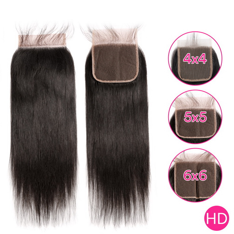 Uglam HD 4X4 5X5 6X6 Lace Closure Straight Sexy Formula