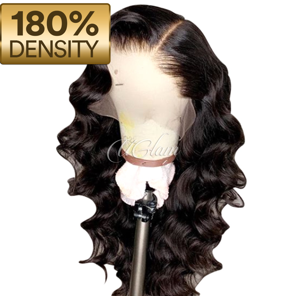 Uglam Hair 13X6 Lace Front Wigs Body Wave 180% Density