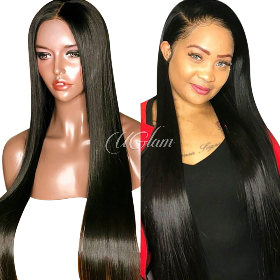 Uglam Hair 13X6 Lace Front Wigs Straight 180% Density