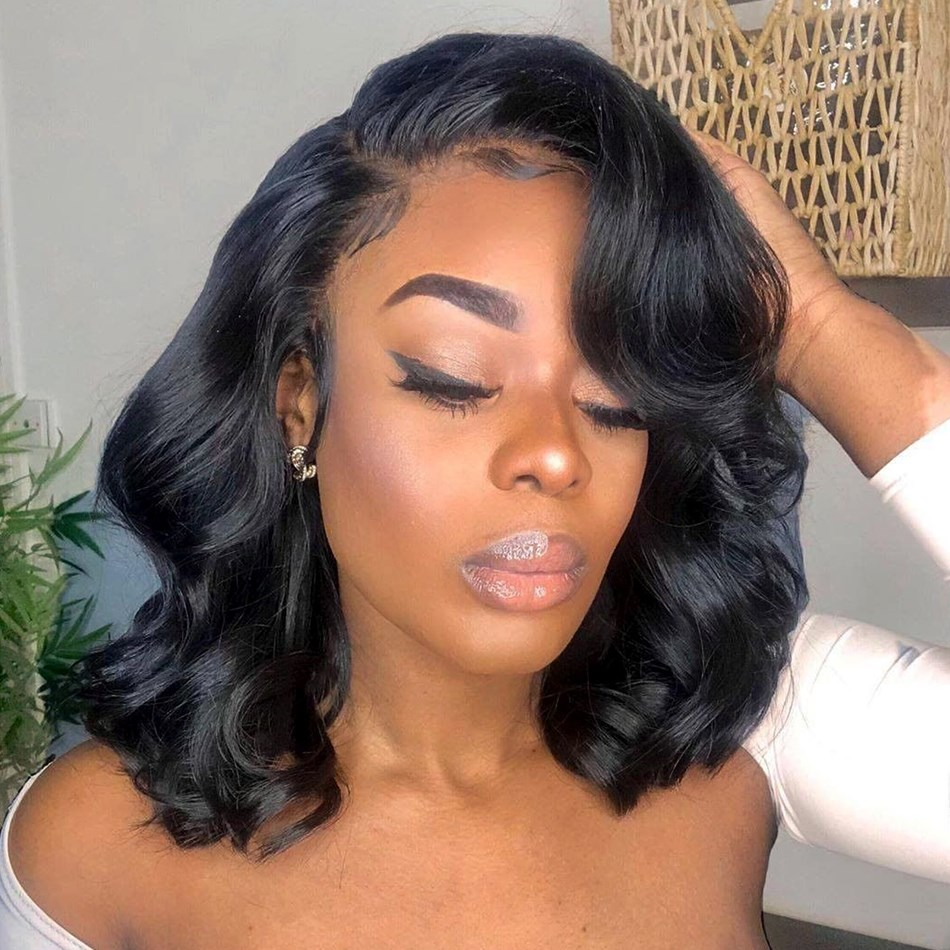 Uglam Clearance 360 Lace Frontal Wigs Body Wave 180% Density