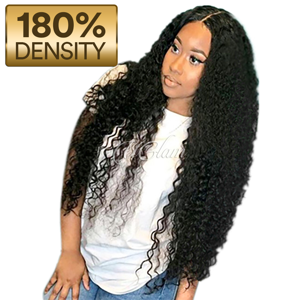 Uglam Hair 360 Lace Front Wigs Deep Wave 180% Density