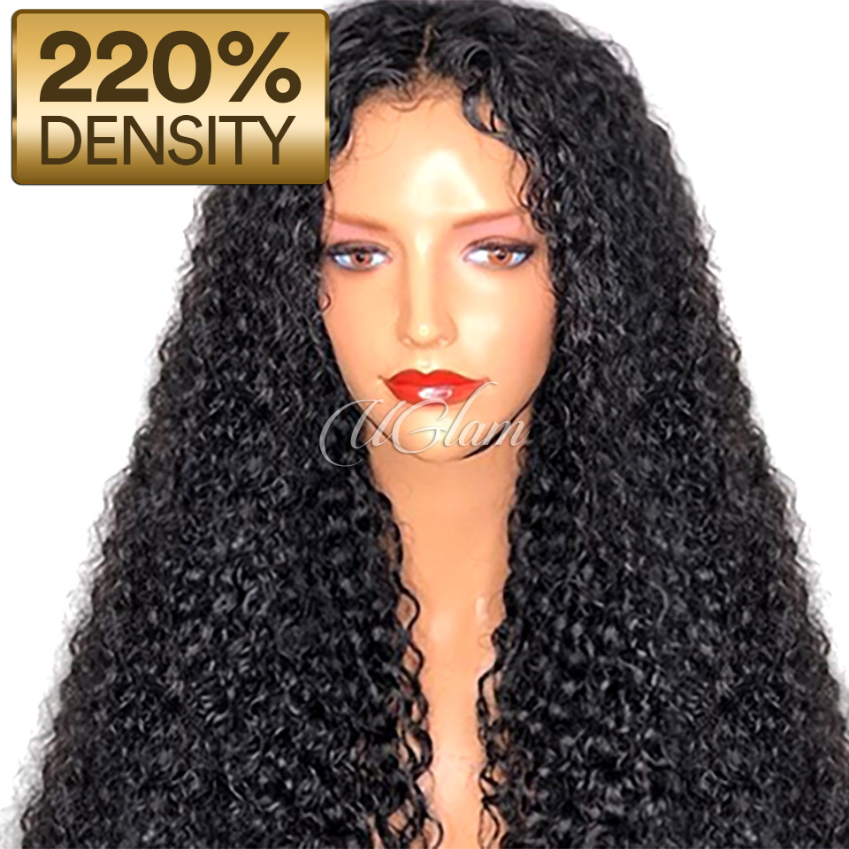 Uglam Hair 360 Lace Front Wigs Roman Curl 220% Density