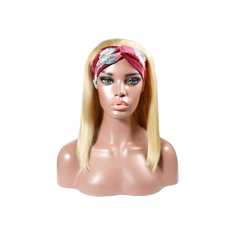 Uglam 613 Color Headband Bob Wigs Straight No PrePlucked Hairline