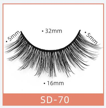 Uglam 100% Mink Hair 3D False Eyelashes