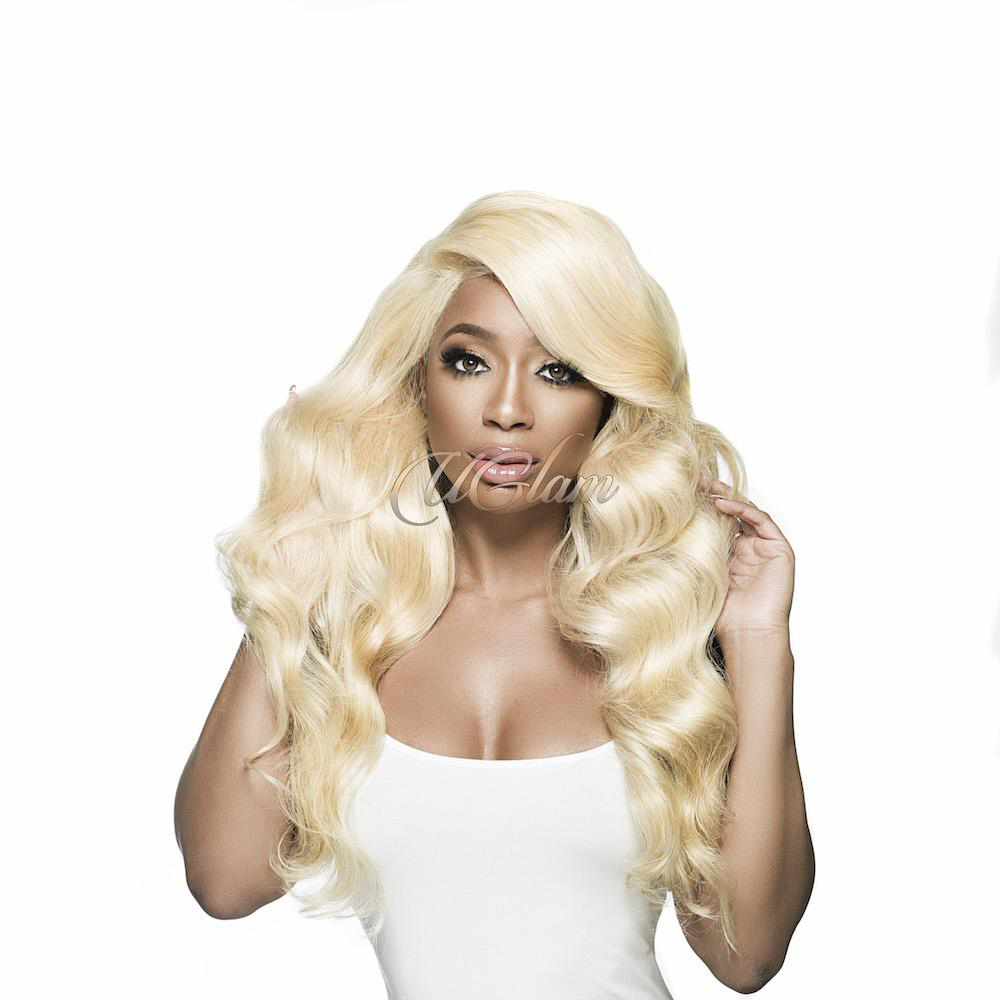 Uglam Full Lace Wigs 613 Honey Blonde Color Body Wave 150% Density