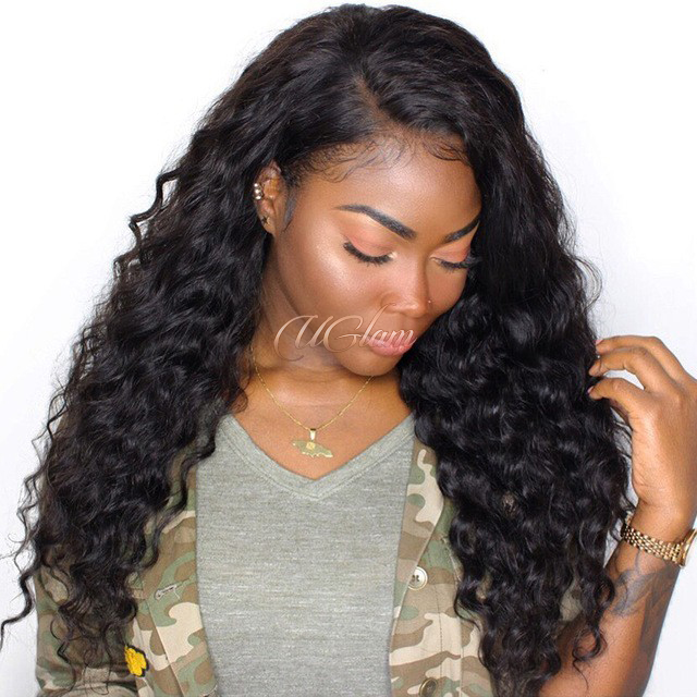 Uglam Hair Lace Front Wigs Loose Wave 180% Density