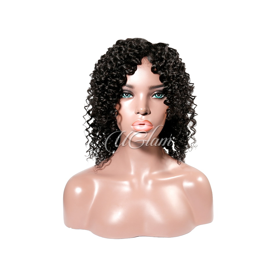 Uglam Machine Wigs Deep Wave For Women