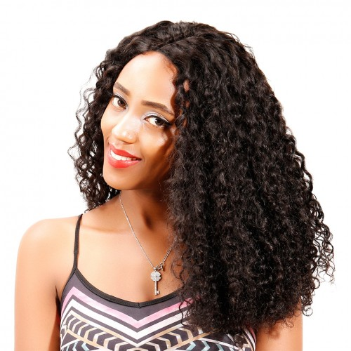 Uglam Machine Wigs 250% Density Roman Curl Hair Weave With 4x4 Lace Closure
