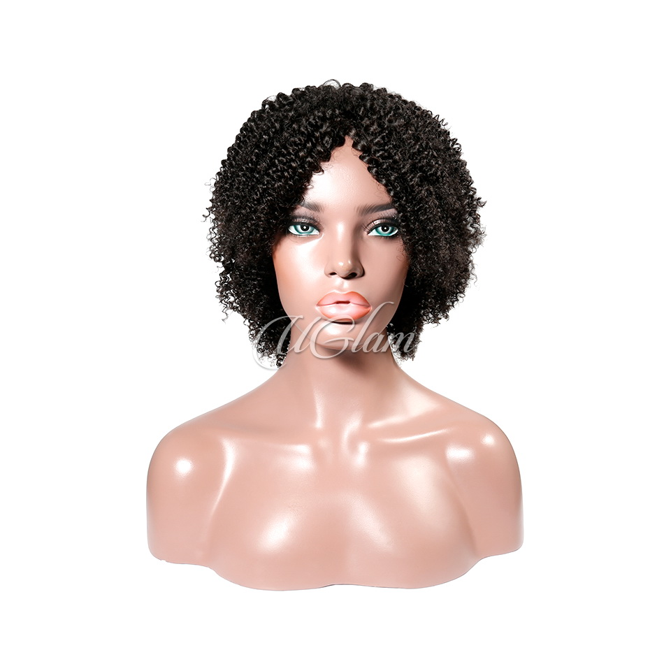 Uglam Machine Wigs Kinky Curly For Women